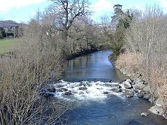 Rhymney River - The river as it passes through Ystrad Mynach