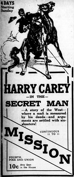 The Secret Man - Newspaper advertisement