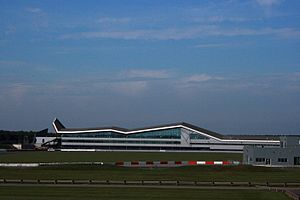 The Silverstone 'Wing' as seen from the Porsche Experience Centre - Flickr - Supermac1961.jpg