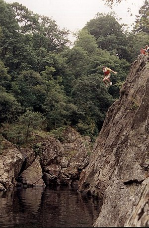 Battle of Killiecrankie - Image: The Soldier's Leap at Killiecrankie geograph.org.uk 1194702
