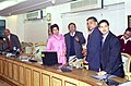 The Union Minister for Urban Employment and Poverty Alleviation, Kumari Selja launching the website of the Ministry of Urban Employment and Poverty Alleviation in New Delhi on January 05, 2005.jpg