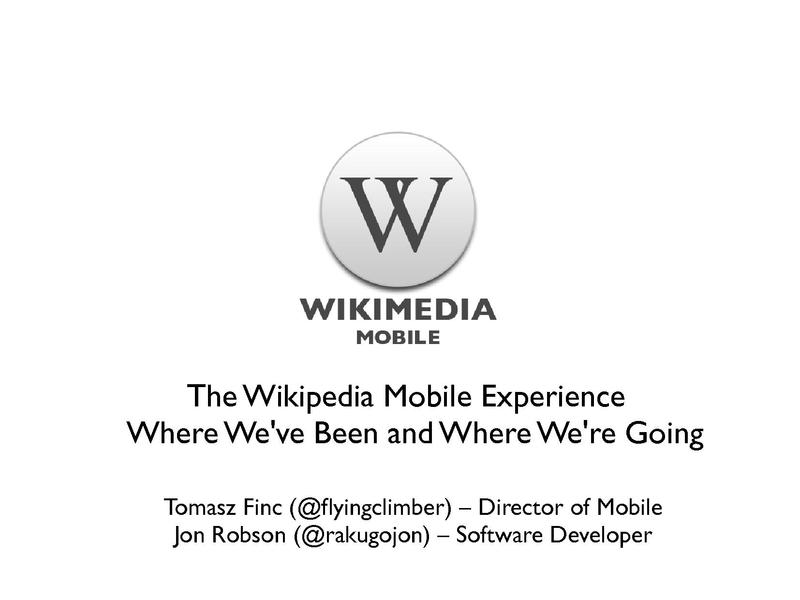 File:The Wikipedia Mobile Experience — Wikimania 2012.pdf