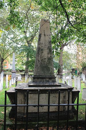 Henry Hunter (divine) - The grave of Henry Hunter, Bunhill Fields, London