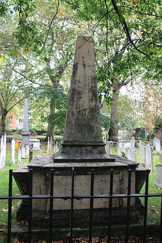 Henry Hunter (divine) - The grave of Henry Hunter, Bunhill Fields, London