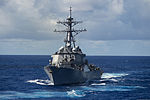 The guided missile destroyer USS Fitzgerald (DDG 62) steams through the Philippine Sea Aug. 20, 2013 130820-N-TX154-259.jpg