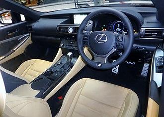Lexus RC - Interior of the Lexus RC 300h Sport