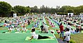 The participants in the mass performance of Common Yoga Protocol, on the occasion of the 4th International Day of Yoga -2018, at Nehru Park, in New Delhi on June 21, 2018 (3).JPG