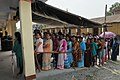 The women voters standing in a queue for casting their votes, at a polling booth, during the 5th Phase of General Elections-2014, at Jalpaiguri on April 17, 2014.jpg