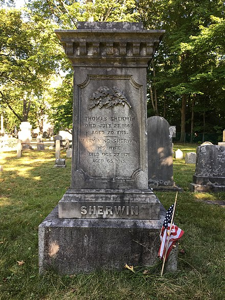 Thomas Sherwin's grave in the Old Village Cemetery Thomas Sherwin's grave.jpg