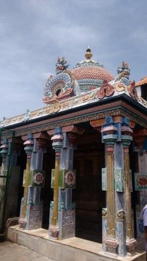 Tirunallar Dharbaranyeswarar Temple - Vimana of the presiding deity