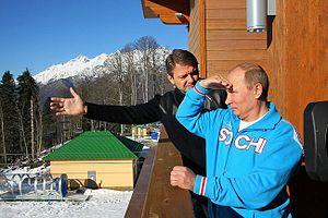 Alexander Tkachov (politician) - Image: Tkachev Putin