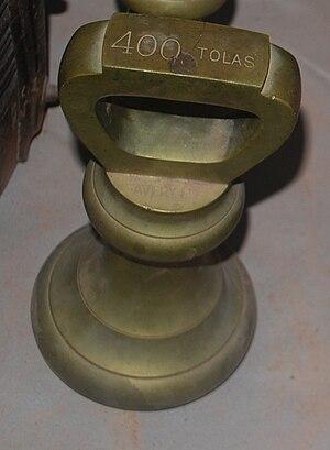 Tola (unit) - 400 tolas