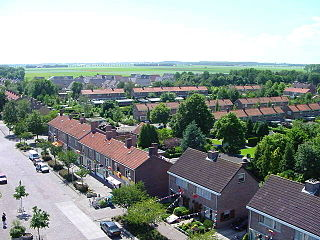 Tollebeek Village in Flevoland, Netherlands