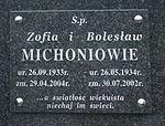 Tomb of Bolesław and Zofia Michoń at Central Cemetery in Sanok 2.jpg