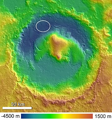 Topographic Map of Gale Crater.jpg
