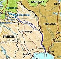 tornedalen karta Tornedalingar – Wikipedia tornedalen karta
