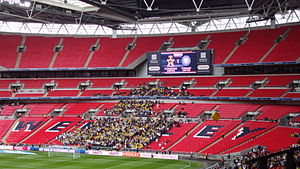 Torquay United F.C. - The Torquay supporters at Wembley Stadium