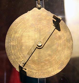 Abū Ishāq Ibrāhīm al-Zarqālī - A copy of al-Zarqālī's astrolabe as featured in the Calahorra Tower.