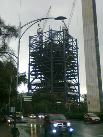 Torre BBVA Bancomer - During construction in 2013