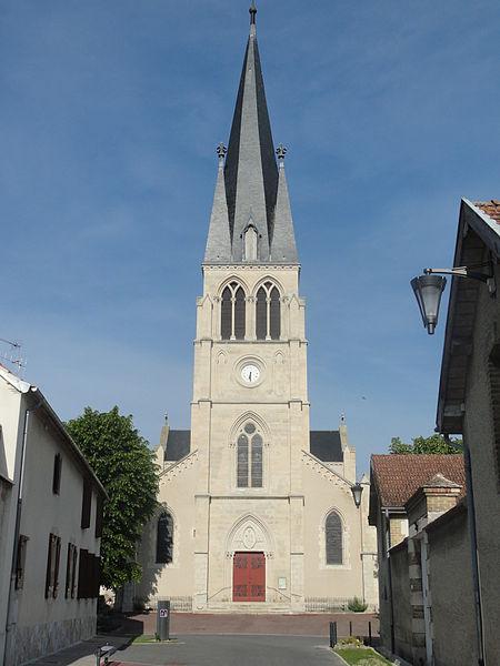 Façade de l'église de Tours-sur-Marne