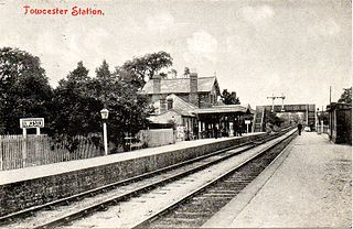 Towcester railway station Former railway station in Northamptonshire, England