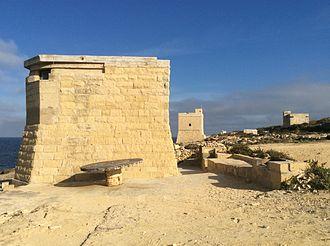 Triq il-Wiesgħa Tower - World War II-era pillboxes near the tower