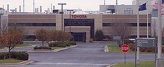 Toyota Motor Manufacturing Indiana - Image: Toyota Motor Manufacturing Indiana Front Entrance