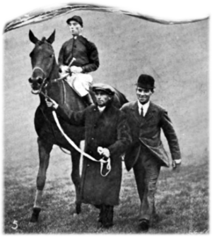 Tracery (horse) - Tracery with George Bellhouse up after winning the St. Leger.