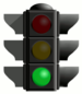 English: green traffic light Español: señal de...