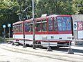 Tram 166 at Sitsi Stop in Tallinn 17 August 2015.jpg