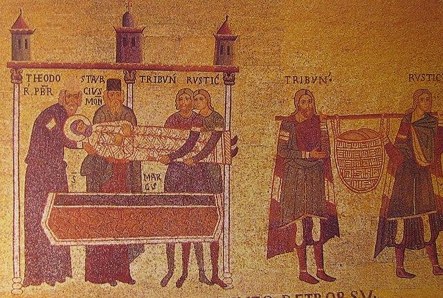 Похищение мощей апостола Марка из Александрии (мозаика пресбитерия собора Сан Марко, XI век)