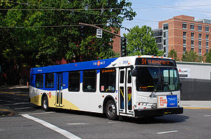 Bus 2909 of TriMet, the public transit agency ...