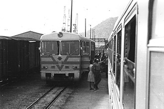 Bosnian-gauge railways - Narrow-gauge railway that once reached Dubrovnik, southern Croatia (photo from 1967).
