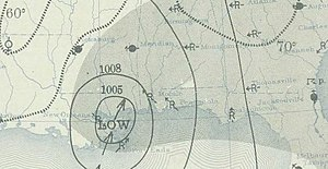 1939 Atlantic hurricane season - Image: Tropical storm September 26, 1939 weather map