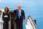Trump at King Khalid International Airport.jpg