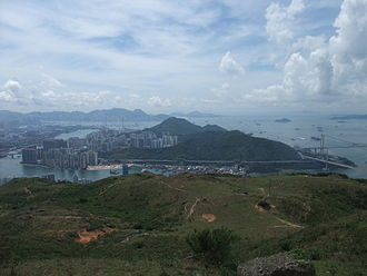 Tsing Yi - Tsing Yi, viewed from Shek Lung Kung