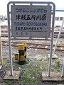 TsugaruTetsudoTsugaruGoshogawaraStationSignboard.JPG