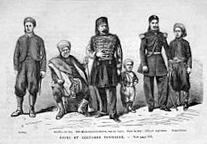 French conquest of Tunisia - Image: Tunisian soldiers 1881