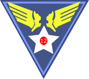 Ponte Olivo Airfield - Image: Twelfth Air Force Emblem (World War II)