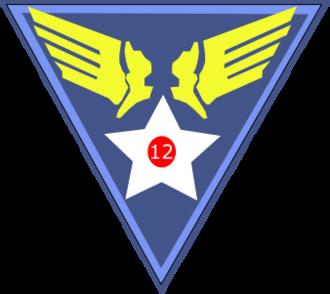 Canrobert Airfield - Image: Twelfth Air Force Emblem (World War II)