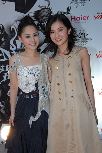 Twins (group) - Gillian Chung (left) and Charlene Choi (right) on the red carpet at the MTV Asia Awards in Bangkok, Thailand on 6 May 2006
