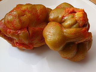 <i>Zha cai</i> Pickled mustard plant stem from Chongqing, China