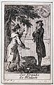 Two men in a graveyard, one of them pointing to an ornate st Wellcome L0029899.jpg