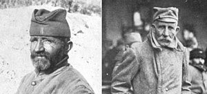 Šajkača - Two old Serbian men mobilized into World War I (1914). The second is wearing the military version.