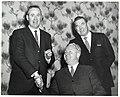Two unidentified men and Mayor John F. Collins in Holyoke (10950033773).jpg