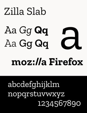 Mozilla - Zilla Slab, Mozilla's typeface since 2017