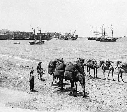The outer harbour during the 1930s Tyre South Lebanon 1931.jpg