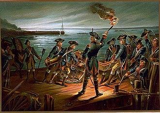Battle of Long Island - U.S. Army - Artillery Retreat from Long Island 1776 (1899)