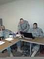 U.S. Army leaders from various staff sections with the 3rd Medical Command (Deployment Support) meet and collaborate on planning efforts in preparation for Hurricane Isaac in Forest Park, Ga., Aug. 29, 2012 120829-A-HW304-457.jpg
