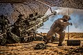 U.S. Marines with the 11th Marine Expeditionary Unit fire their M777 Howitzer during a fire mission in northern Syria as part of Combined Joint Task Force - Operation Inherent Resolve, Mar. 24, 2017.jpg